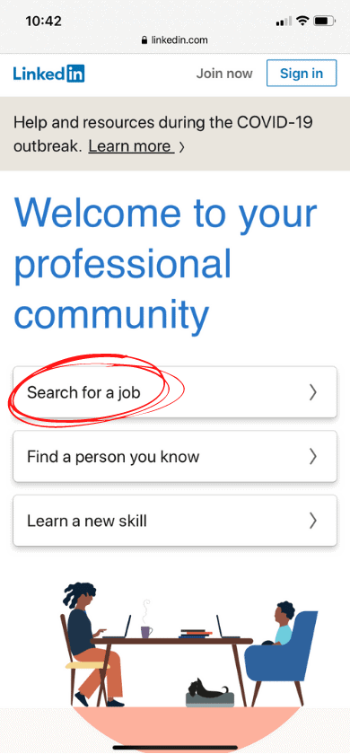 Researching new jobs on LinkedIn after you've lost job can't pay mortgage