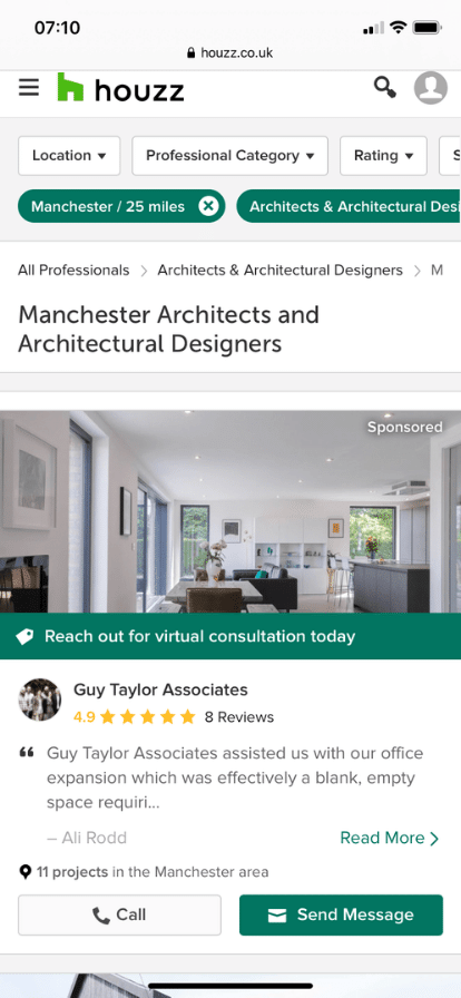 How to find an architect using Houzz