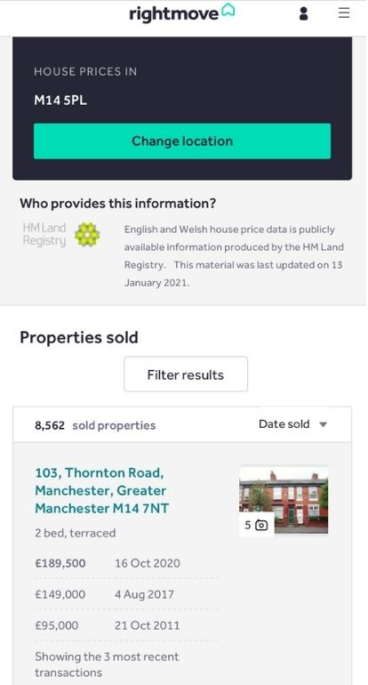 Investigating why houses are not selling at the moment - Sold prices near you