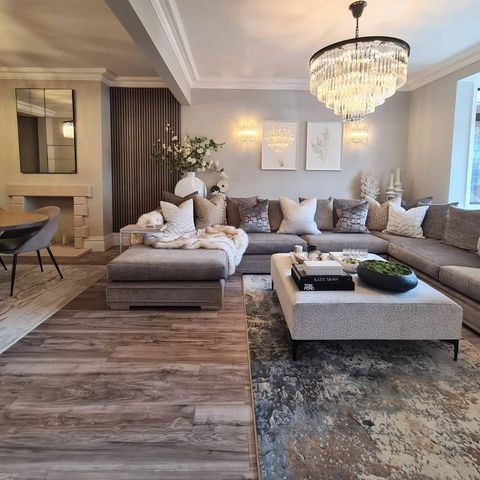A warmer toned living room when Dressing a House to Sell