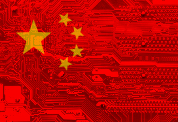 China Flag showing the systems that lead to an efficient construction and building sector