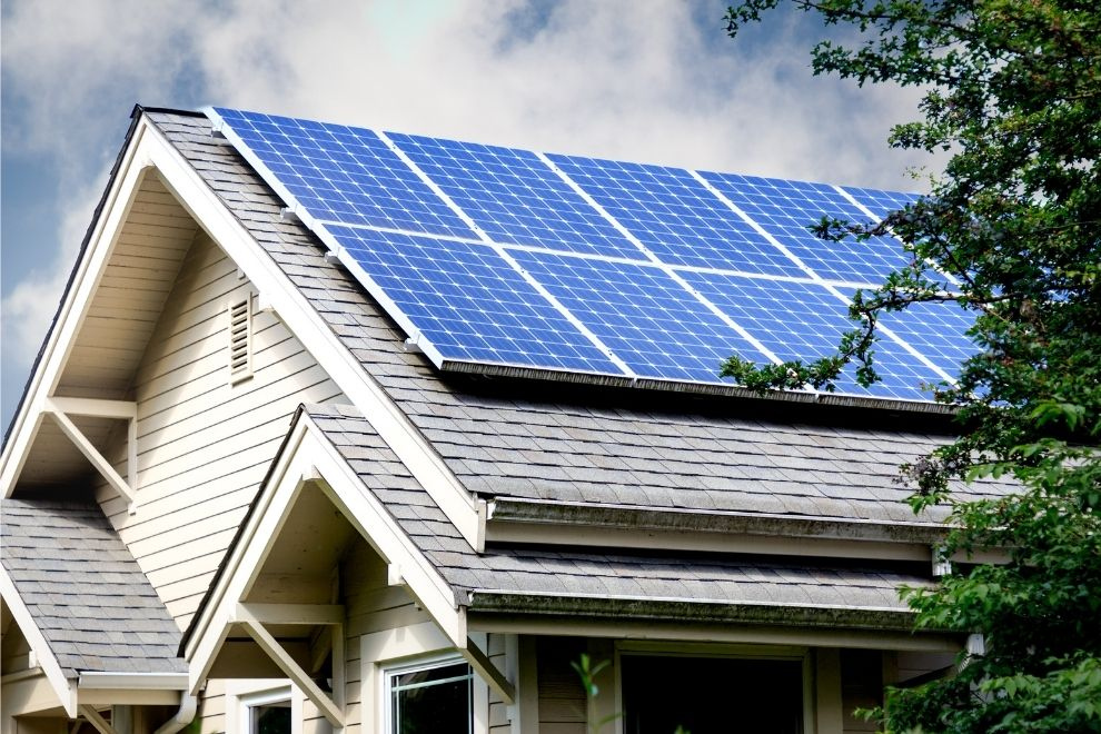 Solar Panels used in Green Home Building in US