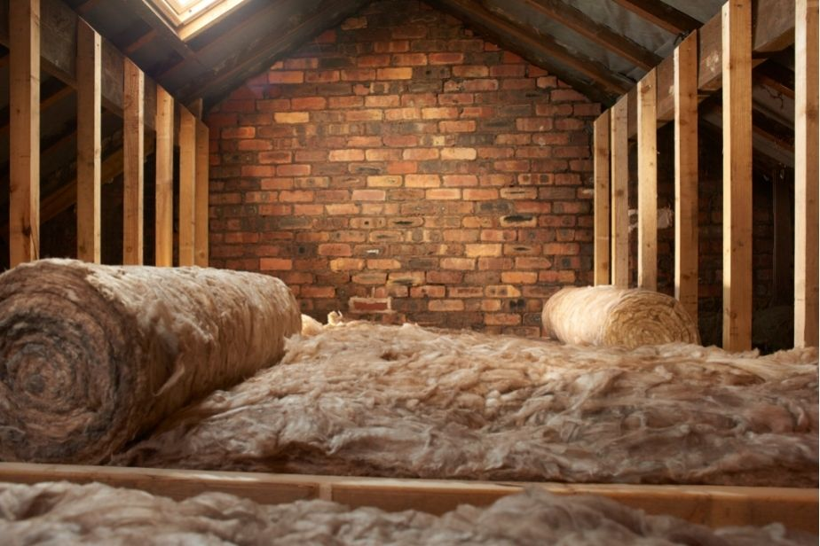 UK Green Home Building Insulation being laid down