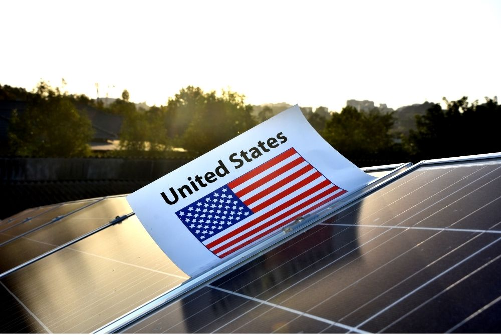 Solar panels for green home building in United States